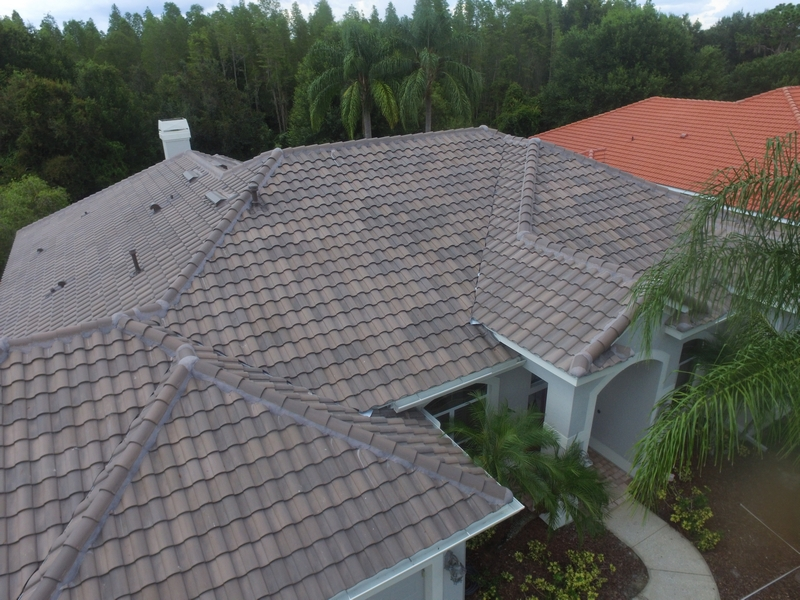 Florida home with a new concrete tile roof.