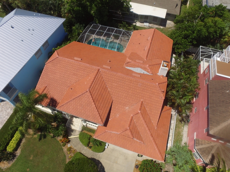 Florida home with a new clay tile roof.