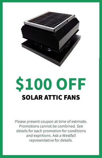 $100 off Solar Attic Fans