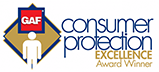 gaf-consumer-protection-excellence-award-logo